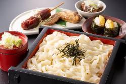 ★おすすめ★天ぷらと刺身の信州そば定食 税込1450円