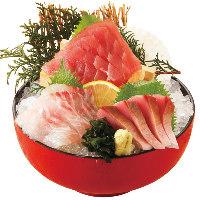 大人気!海鮮4点盛りがおすすめです。