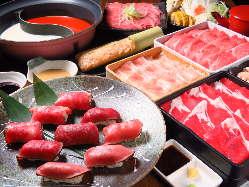 全7種の肉寿司食放♪当店は全て和牛や国産牛等、牛オンリー★