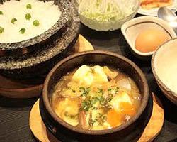 豆腐とピリ辛スープが絶妙