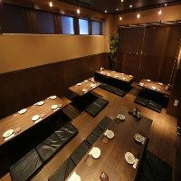 総席数66席のゆったり空間◎豊田市駅からも近く各種宴会に最適♪