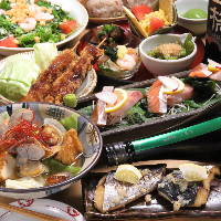 様々な発酵料理が楽しめる飲み放題付コースは3500円~!