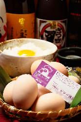 〆のお食事に大人気!純系名古屋コーチンの卵かけご飯☆