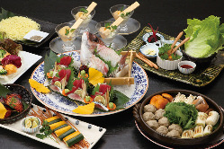 いろいろな、お得な宴会コース!季節こだわり料理