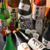 地酒を中心に魚介料理に合う銘酒を取り揃えております!