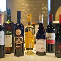自慢の料理と相性抜群のワインも豊富に取り揃えております