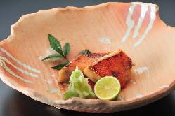 (板長手造り秘伝の西京漬)金目鯛西京焼