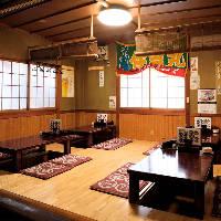 大小様々なお部屋をご用意!居心地の良い和空間でご宴会をどうぞ