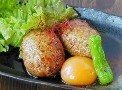 赤鶏 月見つくね 560円 ボリューム感満点!!