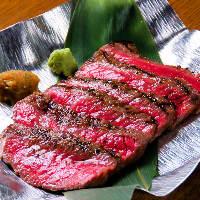 最高A5ランクの宮崎牛のステーキ 綺麗な霜降りのお肉です。