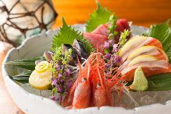 【刺身盛り合わせ5種】 市場直送の新鮮な海鮮を使った刺身盛り