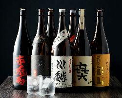 勿論、九州本格焼酎も多数ご用意しております。
