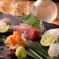 毎日仕入れる新鮮魚介。お刺身でもお愉しみ頂けます