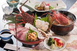 ランチ限定、伊勢海老地魚海鮮丼