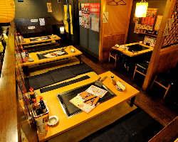 テーブル席、お座敷席、2F宴会場など用途に合わせてご利用頂けます