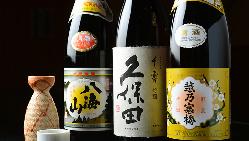 旬の鮮魚の旨味を引き立てる日本酒や焼酎が充実しています