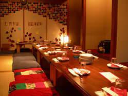 2階には和室もあるんです。20人くらいまではいれます。