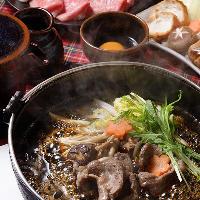 神戸屋厳選お肉をすき焼きで。旨みのつまった黒毛和牛をぜひ!