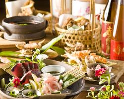 旬な食材を使った宴会コース 人気です。