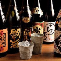 【お酒】 お造りや天ぷらと相性の良い日本酒や焼酎も品数豊富