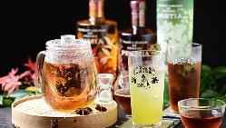 珍しいリキュールを使った、上々こだわりの『お茶割り』は36種類