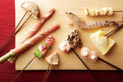 素材にとことんこだわった串揚げが1本150円~楽しめます!