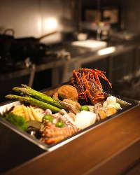 旬菜・旬魚をご用意しております。季節を感じる食事を。