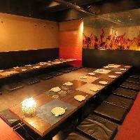 【団体様宴会用個室】 最大80名様まで対応します。