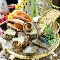 ビールとの相性抜群!新鮮な焼き貝を是非ご賞味ください。