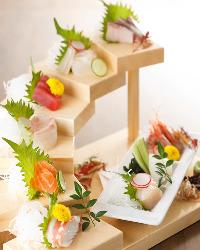 魚は全て名古屋「柳橋市場」直送!鮮度が自慢のお魚を旨いまま提供