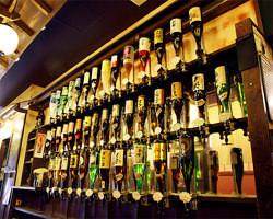 ド迫力!約40種類の焼酎バー お好きな焼酎果実酒をすきなだけ!