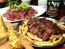 牛ハラミのステーキコース 飲み放題込4000円