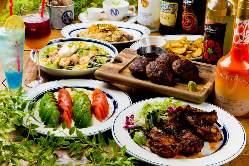 心ゆくまでお肉とお酒を堪能したい方におすすめのコースをご用意