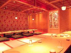 隠れ家京風個室ダイニング♪最大70名様まで、ご予約はお早めに♪