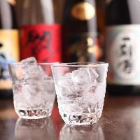 和食と日本酒や焼酎等のお酒が楽しめる飲み放題付コースご用意。