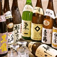 海鮮・和食料理との相性◎全国から取り寄せたこだわり銘柄日本酒