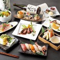 新鮮な海鮮を豊富に味わえる飲み放題付宴会コースをご用意。