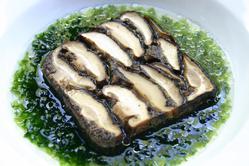 田邉シェフのスペシャリティ 椎茸のテリーヌ海苔のナージュ