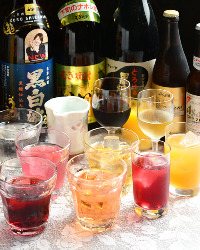 パーティーの飲み放題ドリンクも多種ご用意しております。
