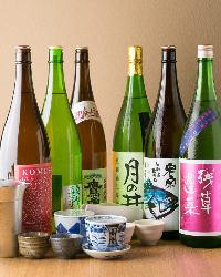 愛知県の地酒や全国から厳選した銘酒を各種ご用意しております。