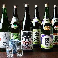 【充実のお酒】 種類豊富な日本酒や粕取焼酎のハイボールも