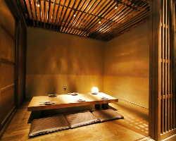 落ち着きのある個室