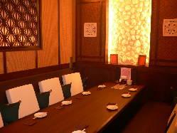 2名様~12名様用のいろいろな個室が11室ございます。