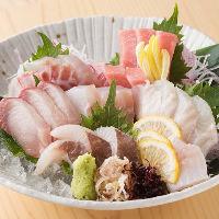 伊勢まぐろや産地直送天然鮮魚など「名物!大漁盛り合わせ」