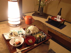 【萱の膳】 手ごろな蕎麦会席です 甘味・食前酒 お選び下さい