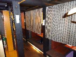 おちついた雰囲気の掘りごたつ式半個室 (2~6名のご利用)