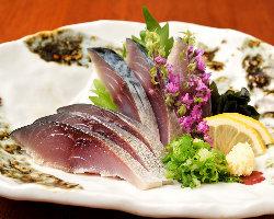 【味】自家製〆鯖の造り