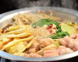 定番!醤油もつ鍋 醤油は博多の蔵で弊店用にブレンド 1280円