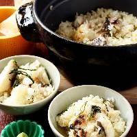 【鯛めし】 土鍋で時間を掛けて炊き上げるこだわりの逸品