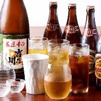 【銘酒揃い】 辛口を中心に揃えた日本酒は料理との相性ぴったり
